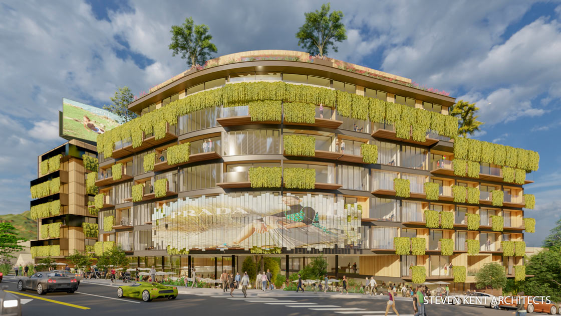 Steve-Kent-Architect-Commercial-Design-Sunset-Blvd-Hotel-Rendering-1